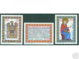 VATICAN Scott 758-760 MNH** 1985 Saint Gregory Set CV $5