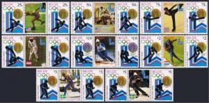 Belize 503-510 pair-label,511 ab-512,MNH. Olympics Lake Placid-1980.Medals.