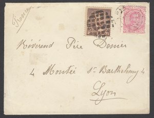 US/Samoa Combo 1893 Cover to FRANCE (Sc 223, Sam 14), w/ PF certificate
