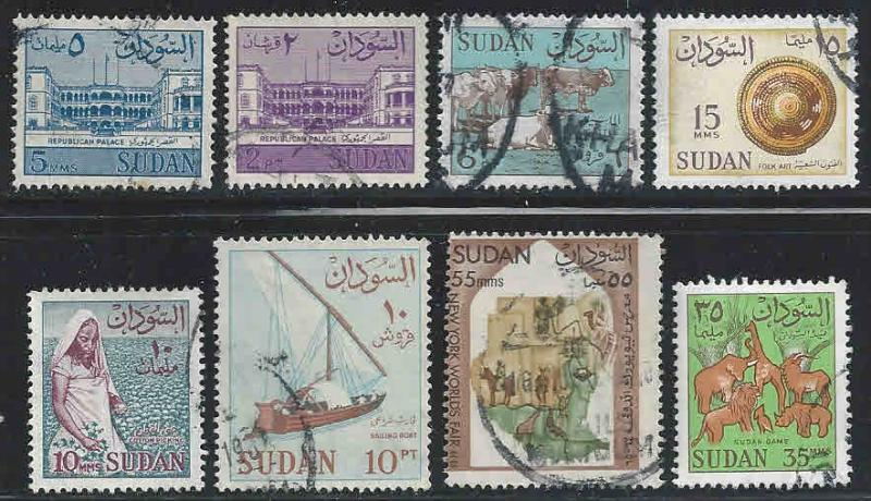 Sudan ~ Lof 8 Different Stamps ~ Mixed ~ cv 1.60