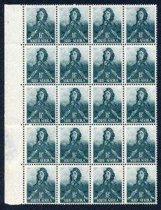 South Africa SG90 1 1/2d myrtle-green U/M Block