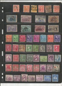 US COLLECTION ON STOCK SHEET, MINT/USED, 1800'S ON