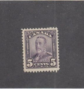 CANADA (MK6064) # 153 VF-MH  5cts  KING GEORGE V SCROLL /DEEP VIOLET CAT VAL $25