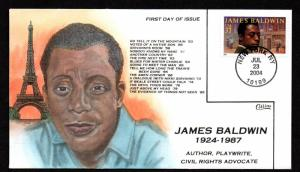 US Collins FDC SC#3871 James Baldwin, Civil Rights Activist, Auther, Playwrite