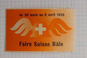 Swiss Switzerland Basel Bale fair 1938 expo show Philatelic stamp Poster seal ad