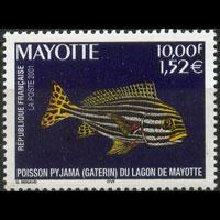 MAYOTTE 2001 - Scott# 150 Fish Set of 1 NH
