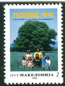 019 - MACEDONIA 1994 - Census - MNH Set