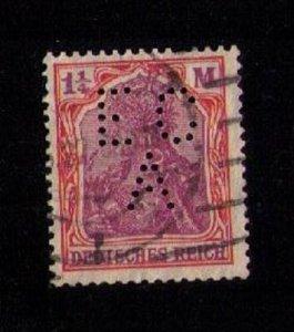 Germany Scott 174 Used (Perfin E.C.A) F-VF