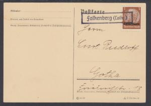 Germany, Occupation of Lorraine, Sc N43 used on Post Card to Gotha