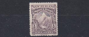 NEW ZEALAND  1898  S G 244  1/2D  PURPLE BROWN  MH