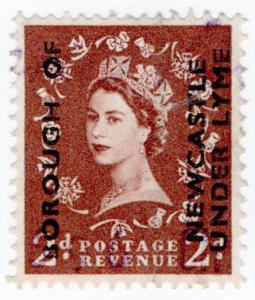 (I.B) Elizabeth II Commercial Overprint : Borough of Newcastle-under-Lyme