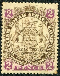RHODESIA-1896-97 2d Brown & Mauve Sg 30 AVERAGE MOUNTED MINT V48413
