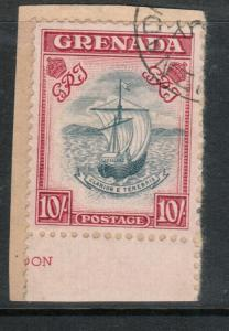 Grenada #142a (SG #163c) Very Fine Used On Piece **With Certificate**