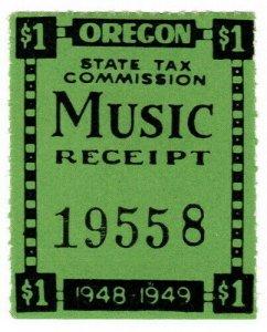 (I.B) US Revenue : Music Tax $1 (Oregon)