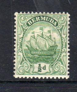 BERMUDA #82  1922   1/2p CARAVEL   MINT VF NH  OG