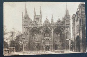 1922 London England RPPC Postcard Cover To Vancouver Canada Peterborough Cathedr