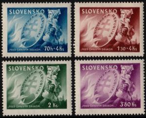 ✔️ SLOVAKIA 1944 - NATIONAL PROTECTION - SC.108/109 B25/B26 MNH OG [SK151]