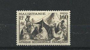 MAURITANIA  1938 - 40  1F 60  BLACK BROWN        MH