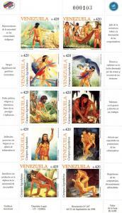 Venezuela 1998 Legendary Caciques Shlt(10)+SS MNH Sc#1602/03