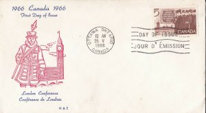 CFD28) Canada 1966 100th Anniversary Of London Conference FDC