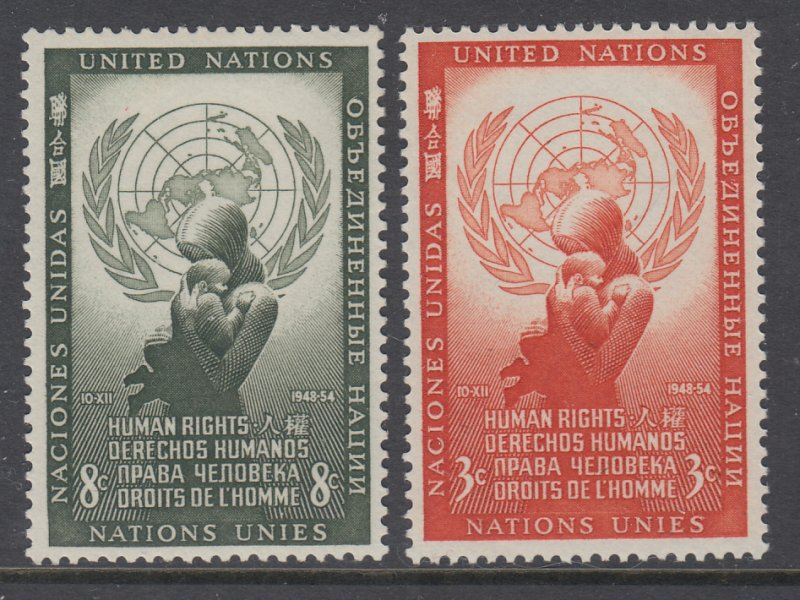UN New York 29-30 Human Rights MNH VF