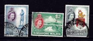 Singapore 40-42 Used 1955 Partial Set