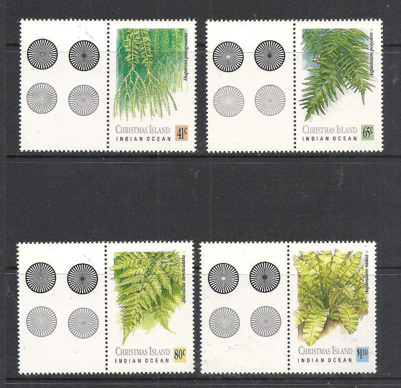 Christmas Island #238-41 comp mnh Scott cv $5.65 Ferns