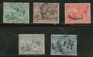 Trinidad Tobago Scott 21-5 used 1922 KGV stamps CV$5.20