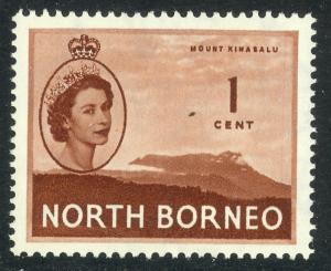 NORTH BORNEO 1954-57 QE2 1c Mount Kinabalu Pictorial Sc 261 MNH