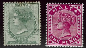 Malta SC#8-9 Mint F-VF...Worth a close look!!
