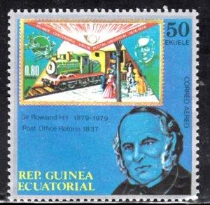 Equatorial Guinea, SW1689, MNH, 1989, Rowland Hill, (LL02029)