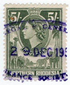 (I.B) Northern Rhodesia Revenue : Duty Stamp 5/-
