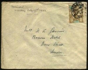 MALTA 1923 cover Valetta to UK.............................................30395