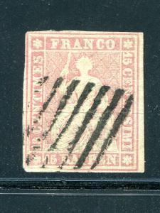 Switzerland  #17a     used  F-VF Cat $175  -  Lakeshore Philatelics