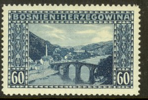 BOSNIA AND HERZEGOVINA 1912 60H KONJICA BRIDGE Issue Sc 63 MH