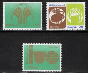 Malaysia Scott 188-190 MNH** set