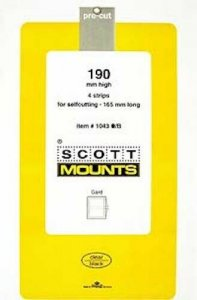 Scott/Prinz Souvenir Sheets & Small Panes Stamp Mount Size: 165x190 #1043 Clear