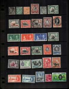 Kenya Uganda   30  different mint hinged and used