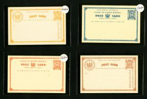 North Borneo Post Card Early Lot of 4x Superb condition