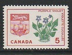 1965 Canada - Sc 421 - MNH VF - 1 single - Purple Violet - New Brunswick