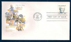 UNITED STATES FDC 40¢ Lillian Gilbreth 1984 Farnam