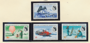 British Antarctic Territory (B.A.T.) Stamps Scott #20 To 23, Mint Lightly Hin...
