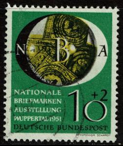 Germany B318 Used - National Philatelic Exhibition - 1951
