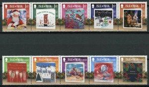 Isle of Man IOM Stamps 2019 MNH Father Christmas Cards Nativity Jesus 10v Set