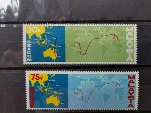 MALAYSIA 1967 MALAYSIA- HK  COMPLETION OF SEACOM TELEPHONE CABLE MINT SET.