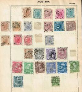 AUSTRIA STAMP OLD USED STAMP COLLECTION LOT #3