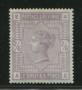 SG175, 2s 6d lilac, NH MINT. Cat £6750+ BLUED PAPER. ITALIAN CERT. AE