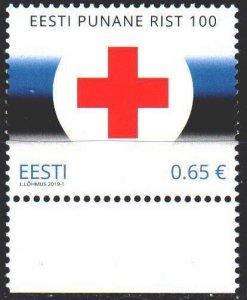 Estonia. 2019. 943. Red cross, medicine. MNH.