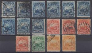 COSTA RICA 1863 COAT OF ARMS Sc 1-4 (16x) FULL SET SHADES CHOICE CANCELS €715.00