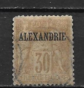 France Offices in Egypt - Alexandria 10 30c Commerece single Used